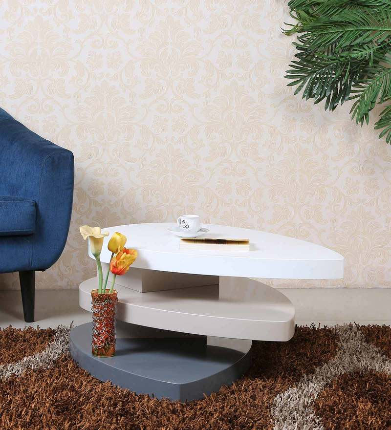Smart Designer Center Table in White Finish by Parin