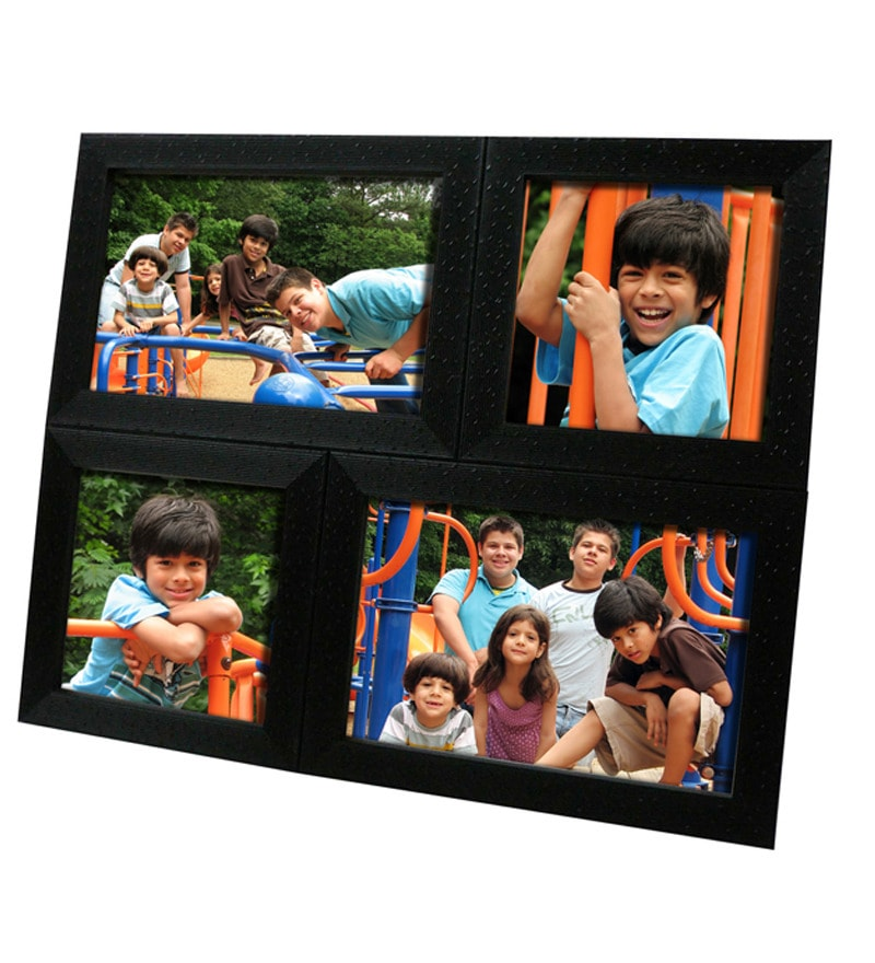 Buy Snap Galaxy Tabletop Black Synthetic Wood Collage Photo Frame ...