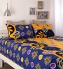 Yellow Cotton Queen Size Bed Sheet - Set of 3 by Snuggles