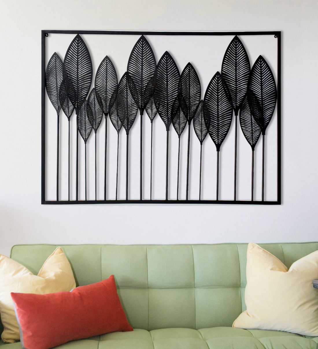 Image of: Buy Wrought Iron Decorative In Black Wall Art By Craftter Online Floral Metal Art Metal Wall Art Home Decor Pepperfry Product