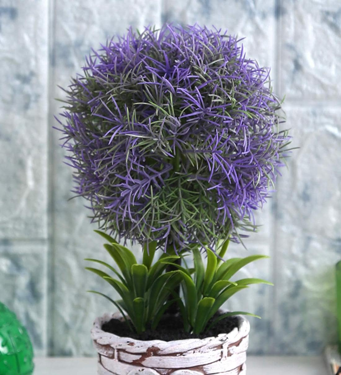Buy Purple Soft Touch Artificial Topiary Plant In A Ceramic Pot By Fourwalls Online Artificial Plants Artificial Plants Home Decor Pepperfry Product
