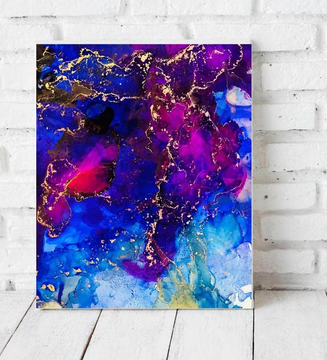 Buy Somewhere In The Sky Art Print In Blue By Wonderbox Online Abstract Art Prints Art Prints Home Decor Pepperfry Product