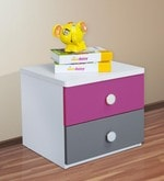 Solo Bed Side Table in Majenta Colour