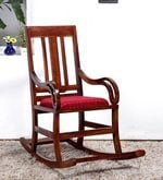 Somerville Rocking Chair in Honey Oak Finish