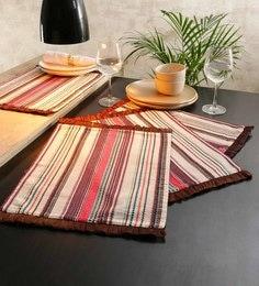 Solaj Multicolour Cotton Table Placemats - Set Of 4 - 1667182
