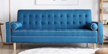 Soul Three Seater Sofa Cum Bed In Blue Colour