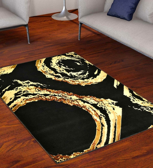 Soft Wool Look Modern Design Carpet for Living Room 7x5.5 feet by Golden  Carpets
