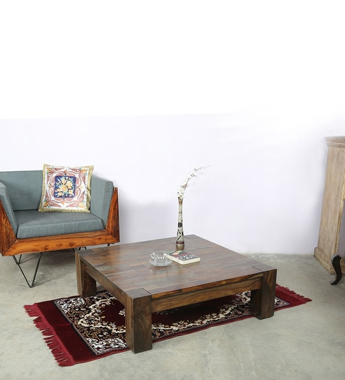 Buy Solid Wood Square Coffee Table By Vriksh Of Life Online