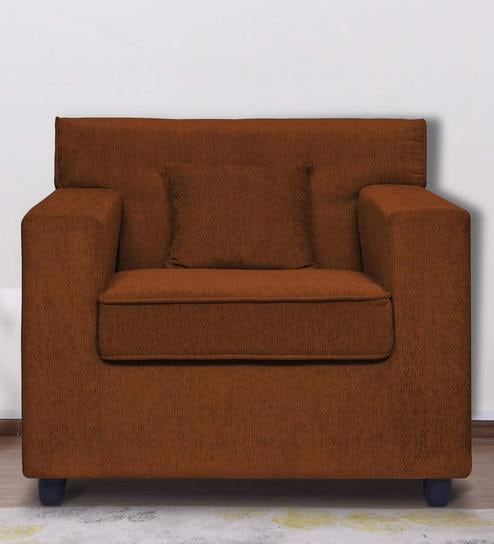 Surprising Solitaire One Seater Sofa In Brown Colour By Stoa Paris Ibusinesslaw Wood Chair Design Ideas Ibusinesslaworg
