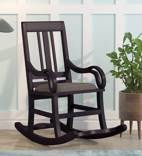 Somerville Rocking Chair In Passion Mahogany Finish By Amberville