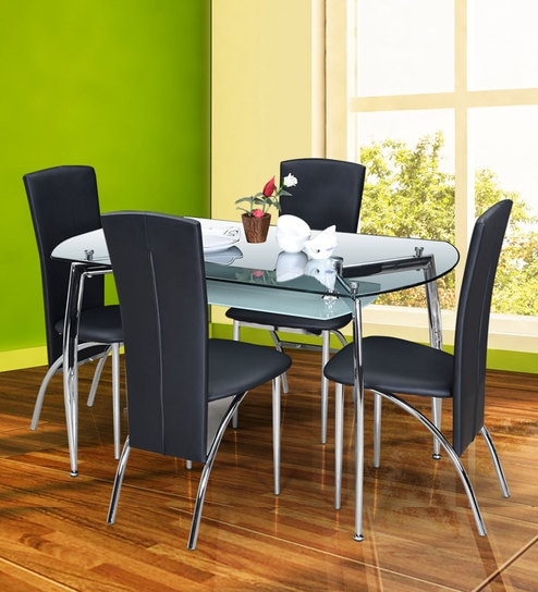 Buy Sonata Four Seater Dining Set By Royal Oak Online Four Seater