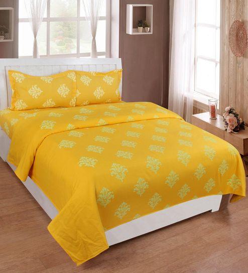 Buy Soumya Premium Cotton Abstract Design Mix N Match Pattern Yellow