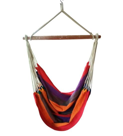 south american cabana stripe fabric hammock chair by hang it buy south american cabana stripe fabric hammock chair by hang it      rh   pepperfry