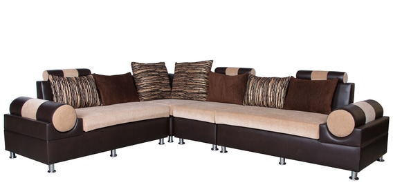 Buy Italia Sofa Set 2 2 1 Corner With 7 Cushions