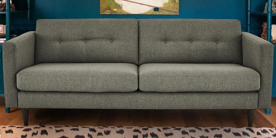 Sophisticated Modern Two Seater Sofa In Greyish Green Colour By Dreamzz Furniture Online Sofas Pepperfry Product