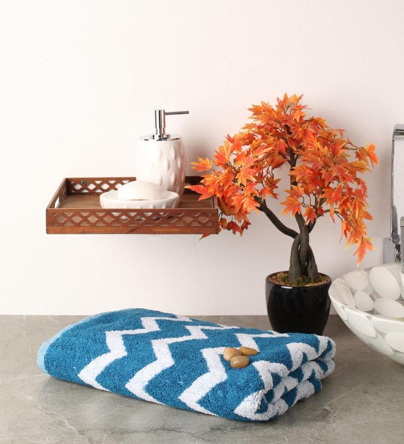 Blue Cotton 57 x 27 Bath Towel by Softweave