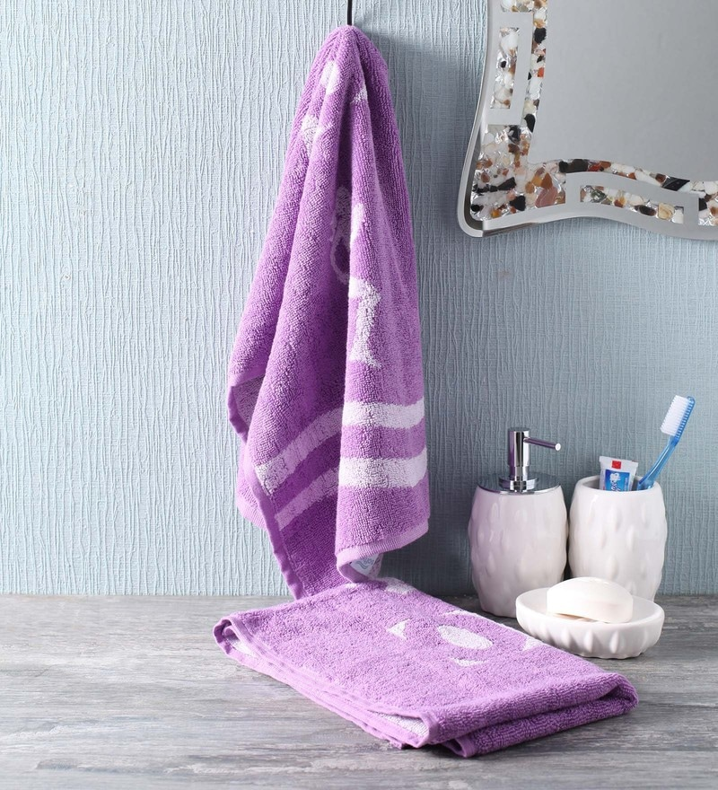 Purple Cotton 35 x 80 Go - for Women Face Towel by Softweave