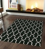 Sofiabrands Black & White Woolen 96 x 60 Inch Abstract Carpet