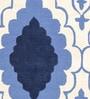 Sofiabrands Blue Wool 60 x 96 Inch Modern Carpet