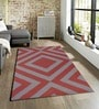 Sofiabrands Red & Grey Viscose Striped & Checkered Carpet