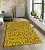 Sofiabrands Yellow Viscose Abstract Carpet