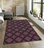 Sofiabrands Purple Viscose Striped & Checkered Carpet