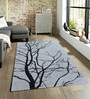 Sofiabrands Grey Wool 60 x 96 Inch Floral Carpet
