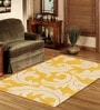 Sofiabrands Yellow Wool Floral Carpet