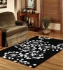 Sofiabrands Black Wool Floral Carpet