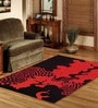 Sofiabrands Red Wool Abstract Carpet