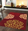 Sofiabrands Red Woolen 96 x 60 Inch Abstract Carpet