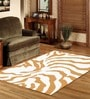 Sofiabrands Yellow & White Wool Abstract Carpet