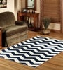 Sofiabrands Blue Wool Abstract Carpet