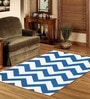 Sofiabrands Blue & White Wool Abstract Carpet
