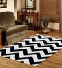 Sofiabrands Black & White Wool Abstract Carpet