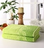Green Cotton 28 x 55 Bath Towel - Set of 2 by Softweave