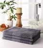 Grey Cotton 39 x 20 Inch Hand Towel - Set of 3 by Softweave