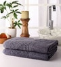 Grey Cotton 28 x 55 Bath Towel - Set of 2 by Softweave