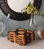 Orange Cotton 12 x 12 Face Towel - Set of 5 by Softweave