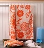 Softweave Orange Cotton 28 x 55 Bath Towel - Set of 2