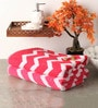 Softweave Pink and Red Cotton 28 x 55 Bath Towel - Set of 2
