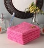 Pink Cotton 28 x 16 Face Towel - Set of 5 by Softweave