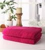 Pink Cotton 28 x 55 Bath Towel - Set of 2 by Softweave