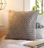 Grey Velvet 16 x 16 Inch Velvet Cushion Cover by Solaj