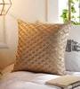 Solaj Metallic Cotton 18 x 18 Inch Embroidery Cushion Cover