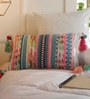 Solaj Multicolour Cotton 12 x 18 Inch Woven Cushion Cover