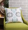 Solaj Multicolour Cotton 16 x 16 Inch Embroidered & Printed Cushion Cover