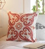 Multicolour Cotton 16 x 16 Inch Embroidery Indian Ethnics Cushion Cover by Solaj