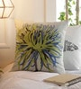 Solaj Multicolour Cotton 16 x 16 Inch Embroidery Nature & Florals Cushion Cover