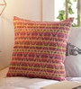 Solaj Multicolour Cotton 16 x 16 Inch Jacquard Cushion Cover